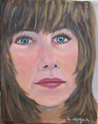 Painting - Blue Eyes by Laurie Morgan