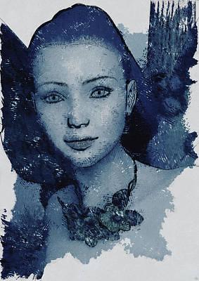 Blue Fae Art Print