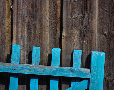Photograph - Blue Fence by Ray Kent