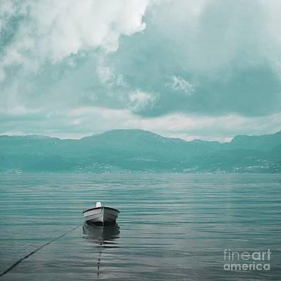 Blue Fjord Art Print by Sonya Kanelstrand