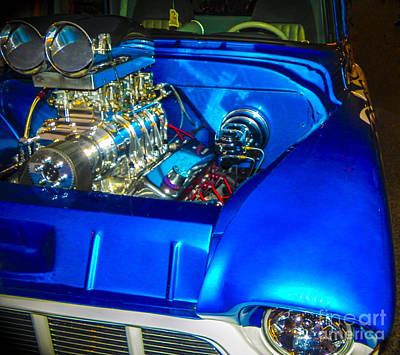 Tricked-out Cars Photograph - Blue Flamer by Chuck Re