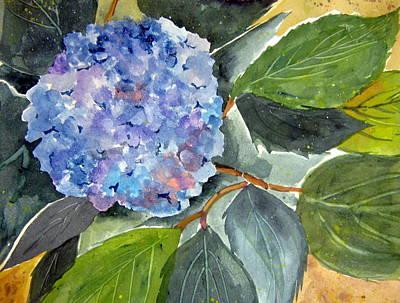 John Smeulders Painting - Blue Flower by John Smeulders