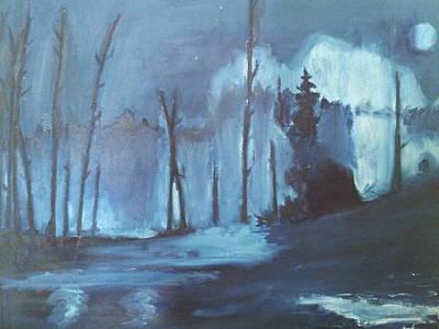Blue Forest Art Print by Joseph Giler