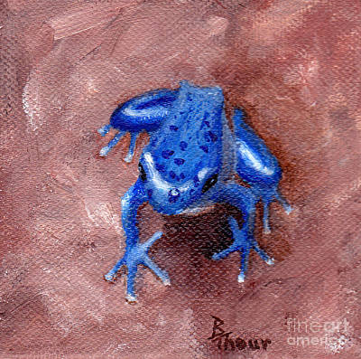 Painting - Blue Froggy by Brenda Thour