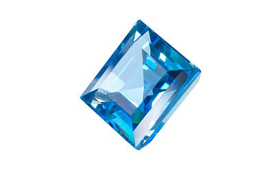Blue Gem Isolated Art Print