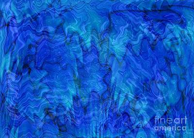 Blue Glass - Abstract Art Print by Carol Groenen