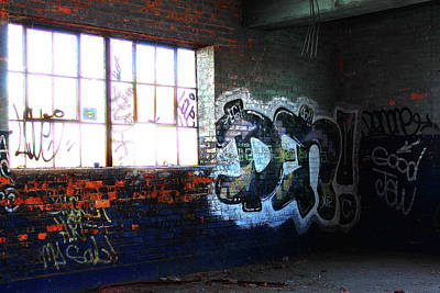 Photograph - Blue Graffiti by Scott Hovind