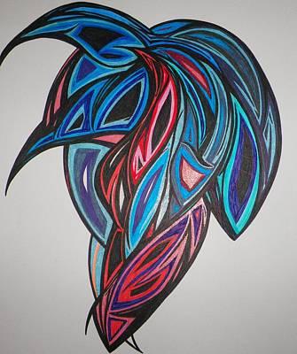 Blue Grapes Art Print by Tara Francoise