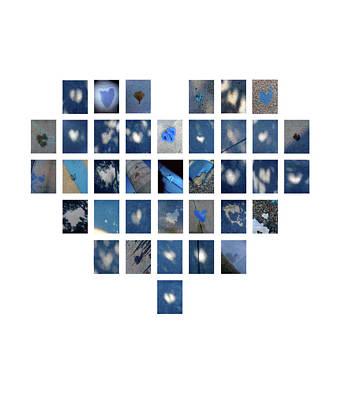 Digital Art - Blue Hearts by Boy Sees Hearts