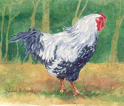 Painting - Blue Hen  by Barbel Amos