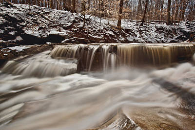 Akron Falls Photograph - Blue Hen Falls Cascade by Jennifer Grover