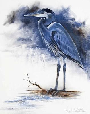 Virgil C Stephens Painting - Blue Heron by Virgil Stephens