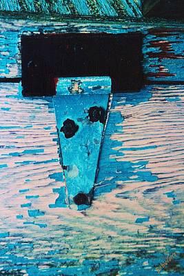 Art Print featuring the photograph Blue Hinge by Bob Whitt
