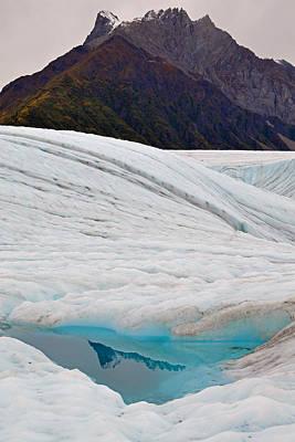 Photograph - Blue Hole Root Glacier by Alan Lenk