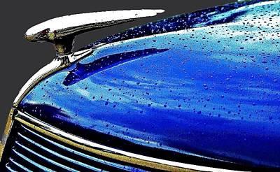 Blue Hood Art Print