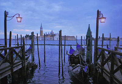 Jeka World Photograph - Blue Hour At The Docks Of San Marco by Jeff Rose
