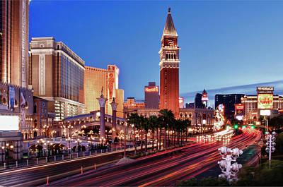 Blue Hour In Las Vegas Art Print by Bert Kaufmann Photography