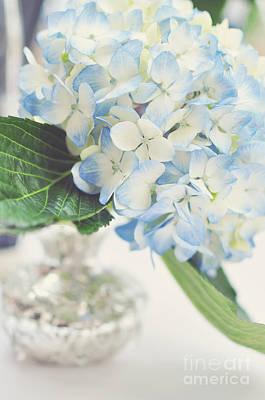 Blue Hydrangea Art Print by Tamara Adams