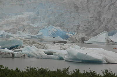 Photograph - Blue Ice by Bj Hodges