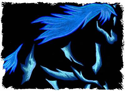 Blue Ice Flows Over Adobe Dance Art Print by Mark Schutter