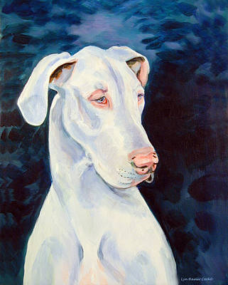 Blue Ice Great Dane Art Print by Lyn Cook