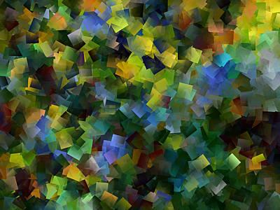 Digital Art - Blue Infinity by Kathy Sheeran
