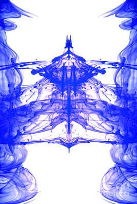 Blue Ink Abstract  Art Print by Richard Thomas