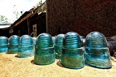 Photograph - Blue Insulator  by James Steele