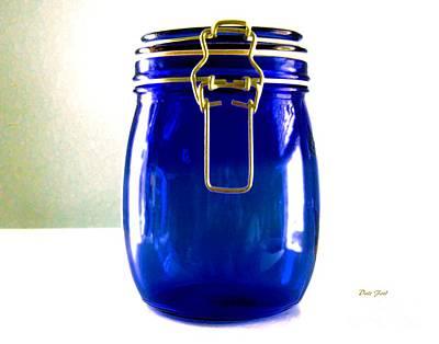 Digital Art - Blue Jar by Dale   Ford