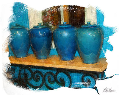 Photograph - Blue Jars by Diana Haronis