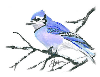 Wall Art - Painting - Blue Jay by Elisa Gabrielli