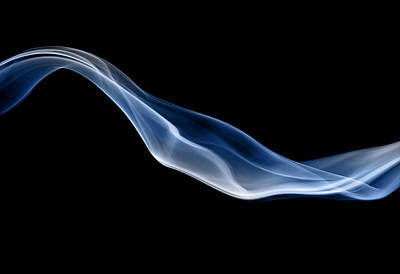 Smoking Trails Photograph - Blue Jet Of Smoke by Anthony Bradshaw