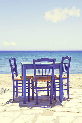Restaurant Photograph - Blue by Joana Kruse