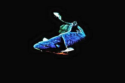 Shebunkin Photograph - Blue Koi Artwork by Don Mann