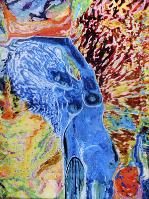 Blue Lady Art Print by Allen Vandever