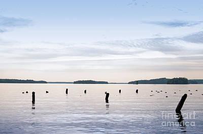 Art Print featuring the photograph Blue Lake Muskoka by Les Palenik