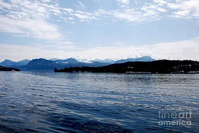 Landscape Photograph - Blue Lake by Pravine Chester