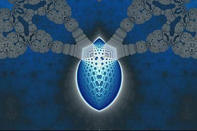 Lantern Digital Art - Blue Lantern by Mark Eggleston