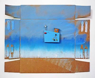 Cardboard Mixed Media - Blue Latitude by Charles Stuart