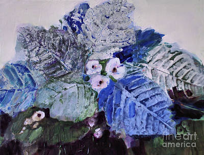 Painting - Blue Leaves by Diane Ursin