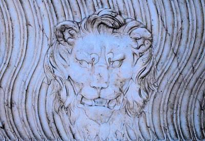 Blue Lion Art Print by