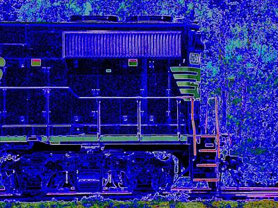 Photograph - Blue Loco by J R Seymour