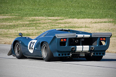 Photograph - Blue Lola T70 On Track by Alan Raasch