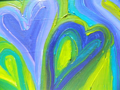 Painting - Blue Love by Kat Kemm
