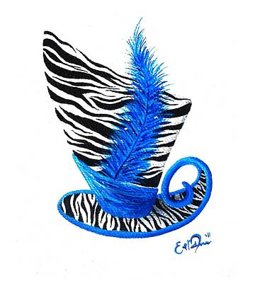 Blue Magic Hat Art Print by Oddball Art Co by Lizzy Love