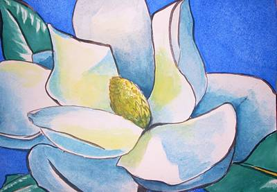Painting - Blue Magnolia by Anne Gardner