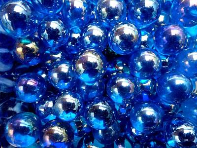 Photograph - Blue Marbles by Ed Lukas