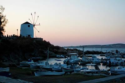 Photograph - Blue Marina Paros by Lorraine Devon Wilke