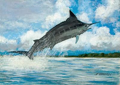 Blue Marlin Art Print by John Brown