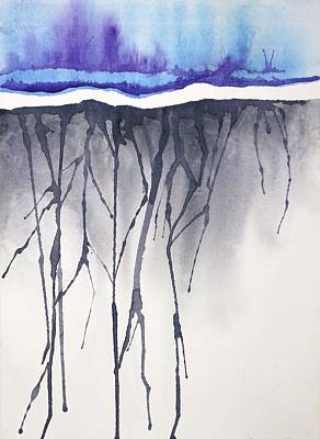 Painting - Blue Mist by Renee Goularte